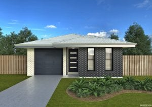 narrow block house designs